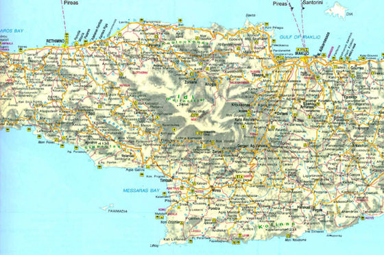 Large map of Crete 3