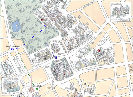 Large map of Darmstadt 1