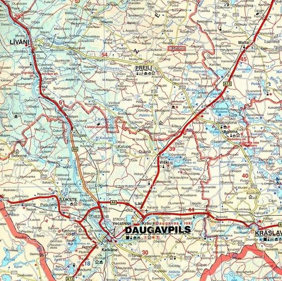 Large map of Daugavpils 1