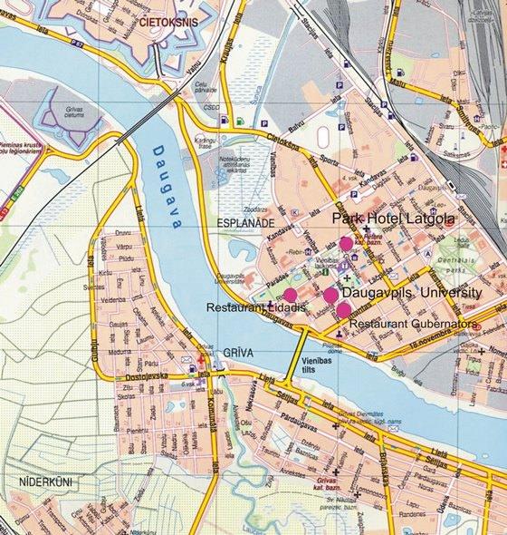 Detailed map of Daugavpils 2