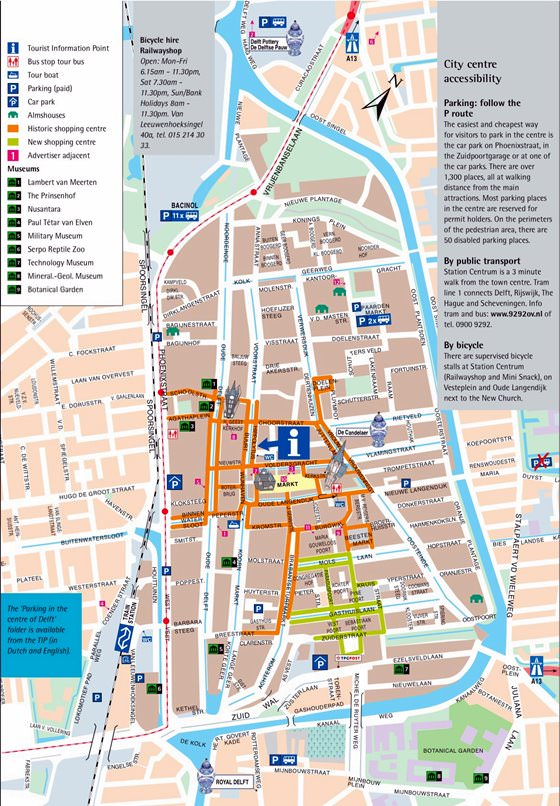 Interactive Map of Delft Search Touristic Sights Hiking and