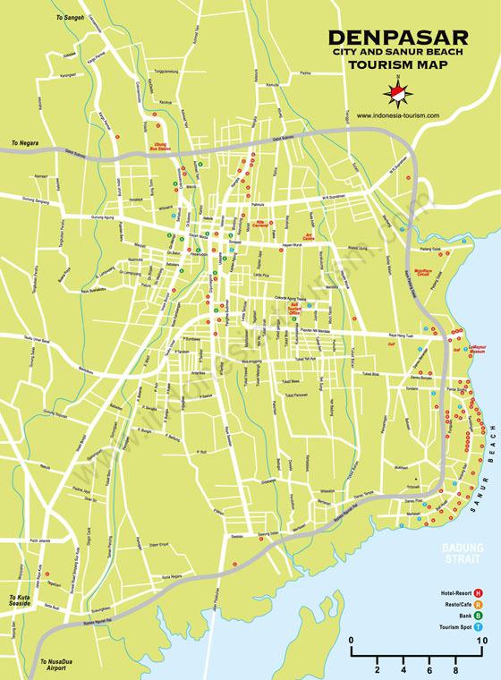 Karte von Denpasar 1
