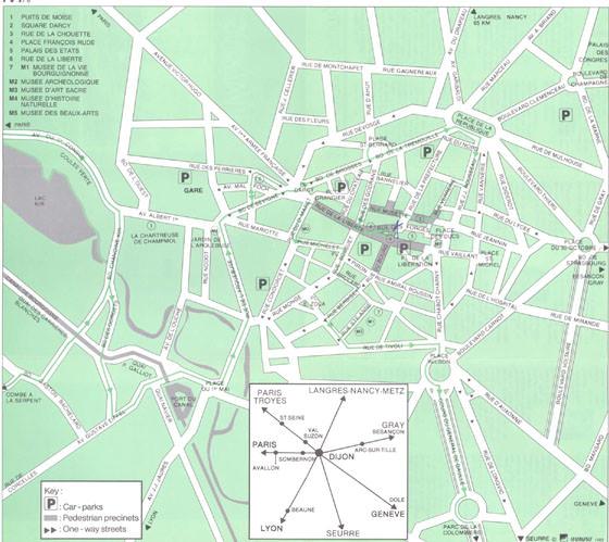 Große Karte von Dijon 1