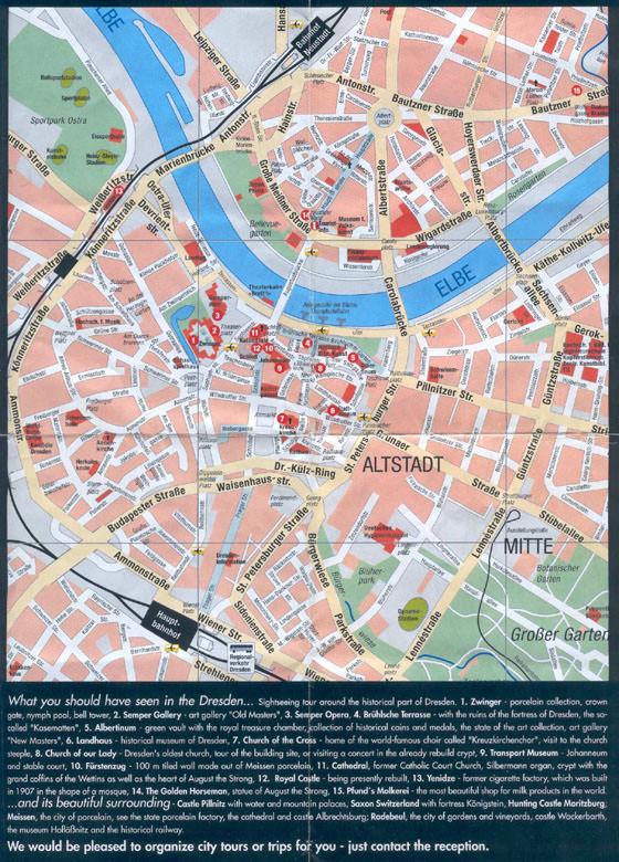 Детальная карта Дрездена 1