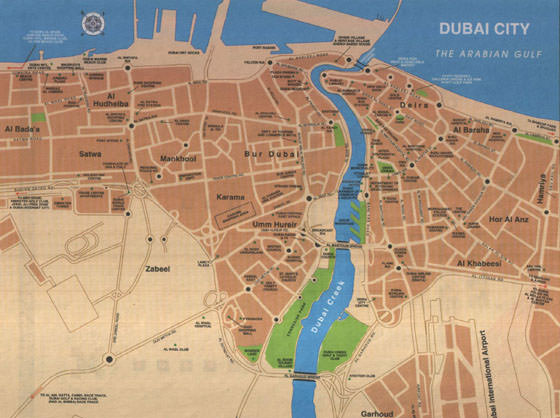 High-resolution map of Dubai for print or download