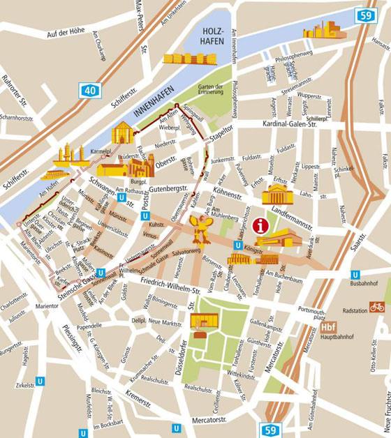 Карта Дуйсбурга 1