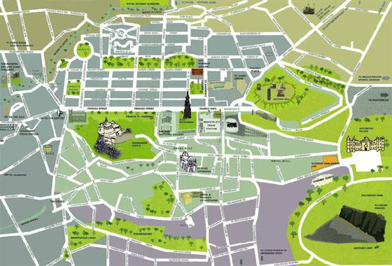 Подробная карта Эдинбурга 2