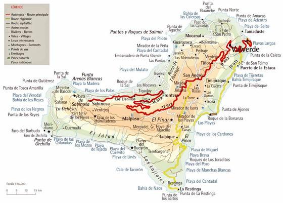 Mapa De El Hierro.Mapa Interactivo De El Hierro Busque Hitos Turisticos Y