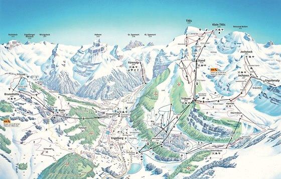 Detaillierte Karte von Engelberg 2