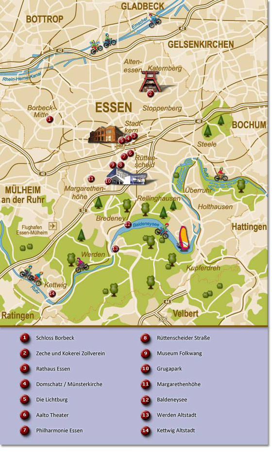 Large map of Essen 1