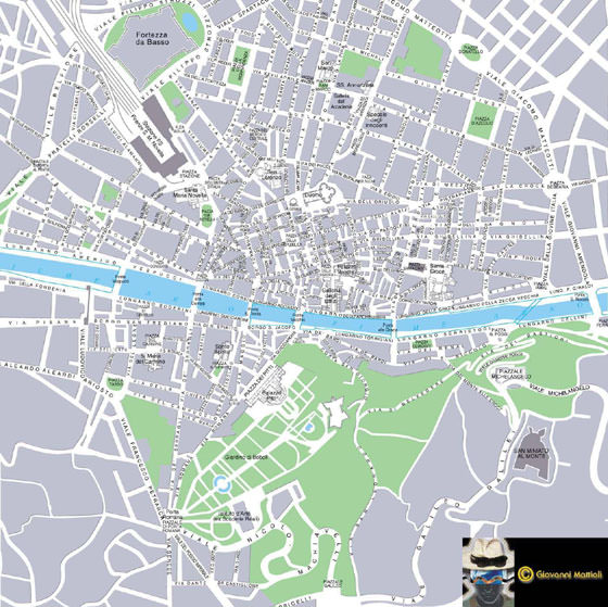 Detailed map of Florence 2
