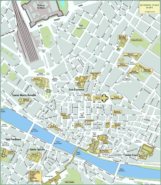 Detailed map of Florence 4