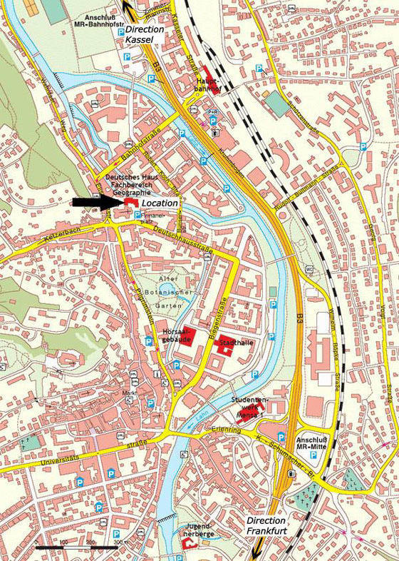 Detailed map of Frankfurt for print or download