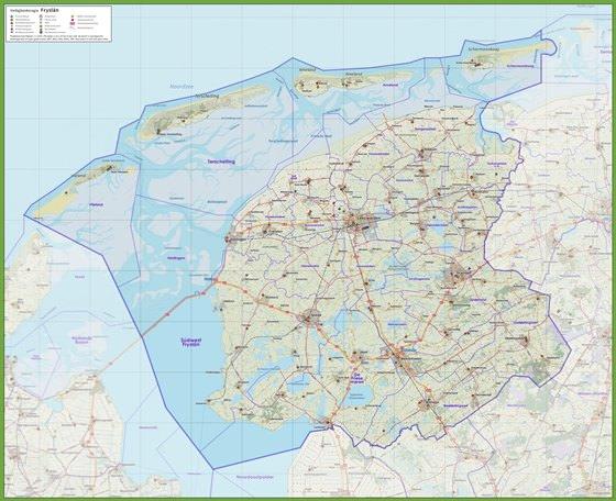 Детальная карта Фрисландии 1
