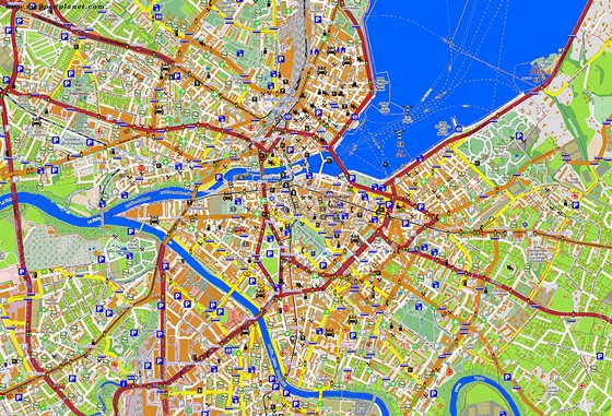 Large map of Geneva 1