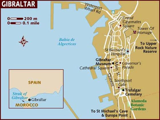 Karte Gibraltar Umgebung.Stadtplan Von Gibraltar Detaillierte Gedruckte Karten Von