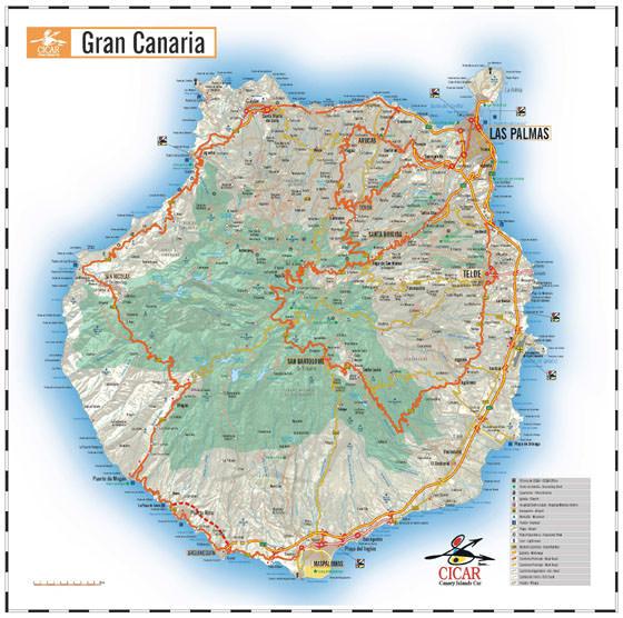 Детальная карта Гран Канарии 1