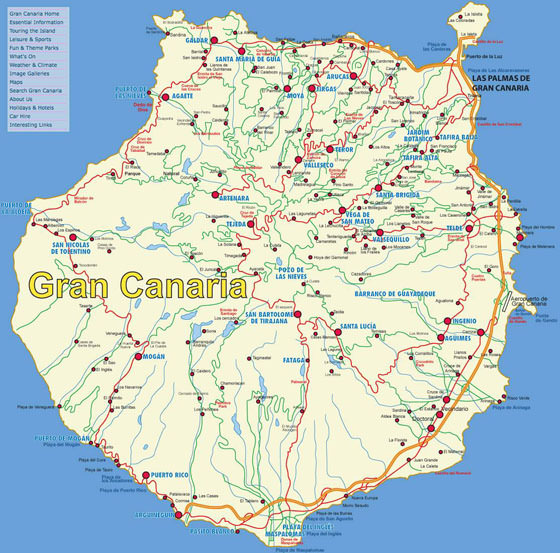 Подробная карта Гран Канарии 2