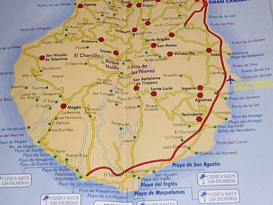 Детальная карта Гран Канарии 3