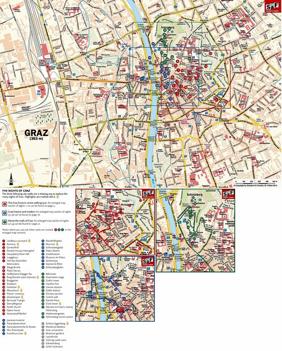 Large map of Graz 1