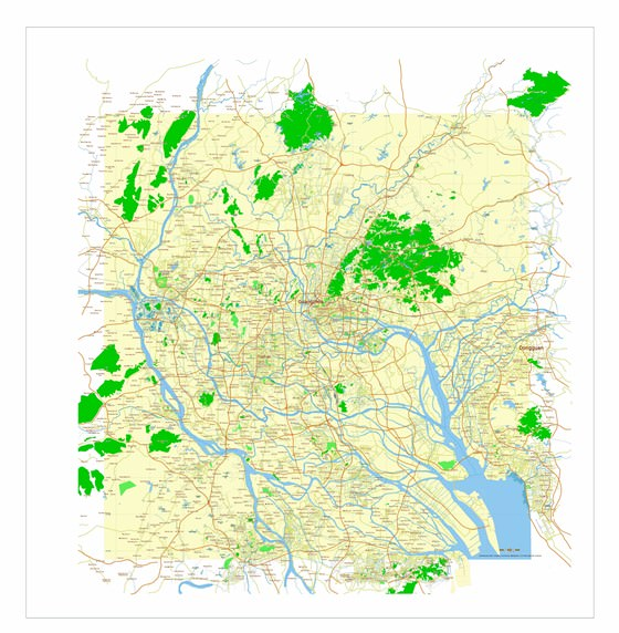 Детальная карта Гуанчжоу 1