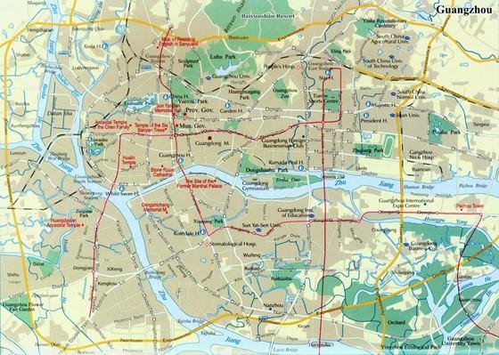 Подробная карта Гуанчжоу 2
