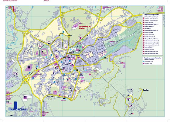 Large map of Guimaraes 1