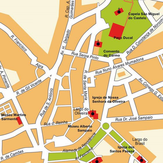 Detailed map of Guimaraes 2