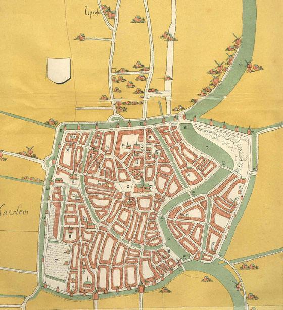 Plan de la ciudad Haarlem