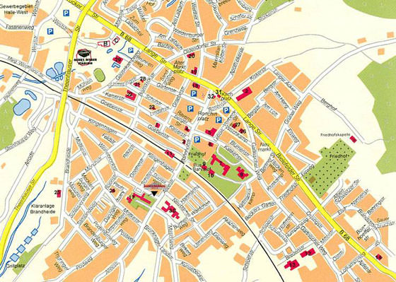 Large map of Halle an der Saale 1