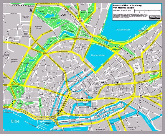 Hamburg Subway Map.Hamburg Subway Map For Download Metro In Hamburg High Resolution