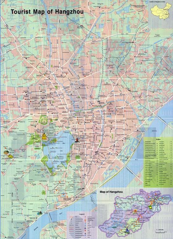 Detailed map of Hangzhou 2