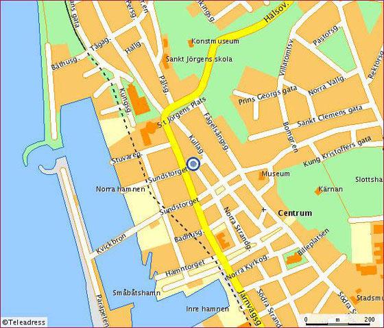Große Karte von Helsingborg 1
