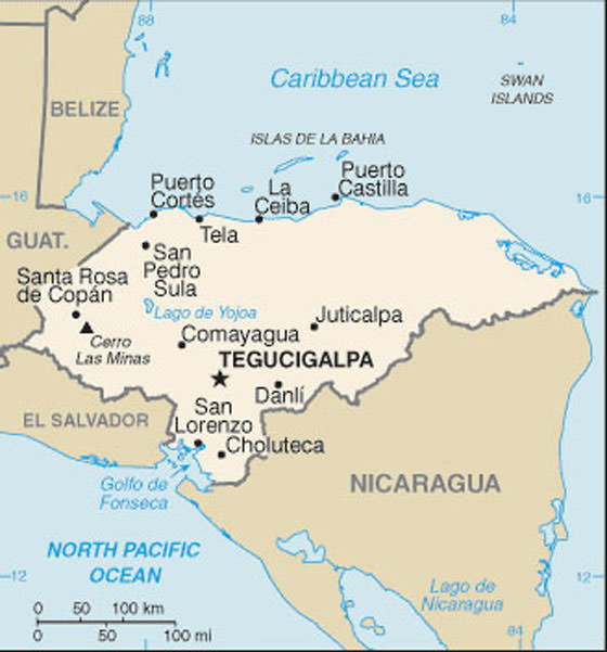 Large Honduras Maps for Free Download and Print HighResolution