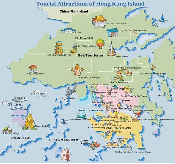 Karte von Hongkong-Stadt 2