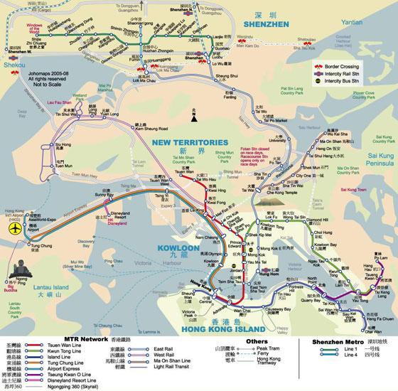 Karte von Hongkong-Stadt 3