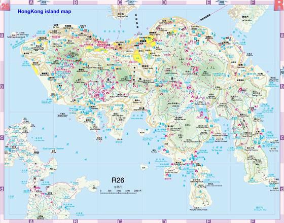 Karte von Hongkong-Stadt 4