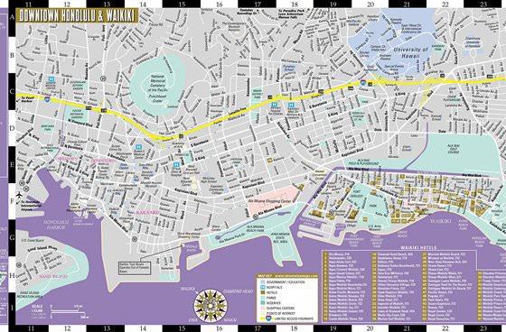 Detaillierte Karte von Honolulu 2