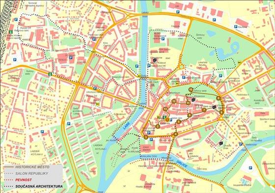Карта Градец Кралове 1