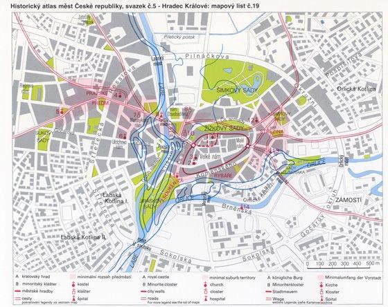 Подробная карта Градец Кралове 2