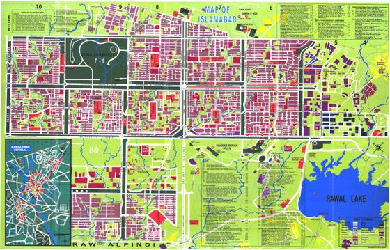 Large map of Islamabad 1