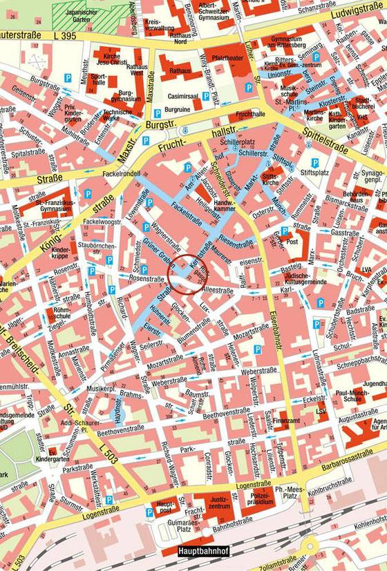stadtplan von kaiserslautern detaillierte gedruckte karten von kaiserslautern deutschland der. Black Bedroom Furniture Sets. Home Design Ideas