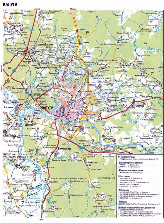 Kaluga map 1