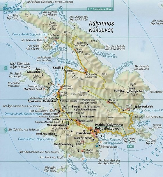 Детальная карта Калимноса 1