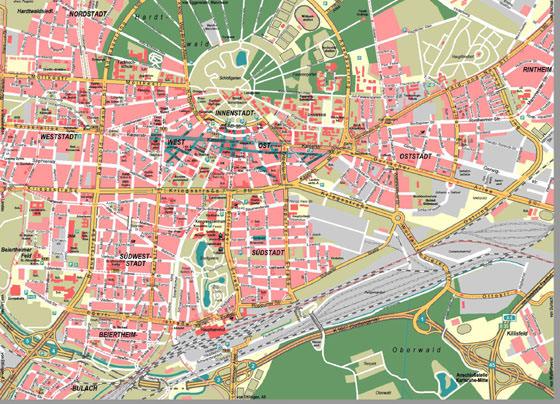 Детальная карта Карлсруе 1