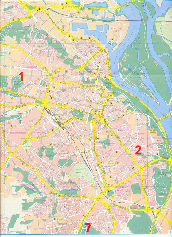 Large map of Kiev 1