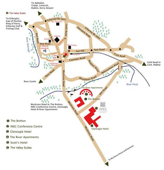 Large map of Killarney 1