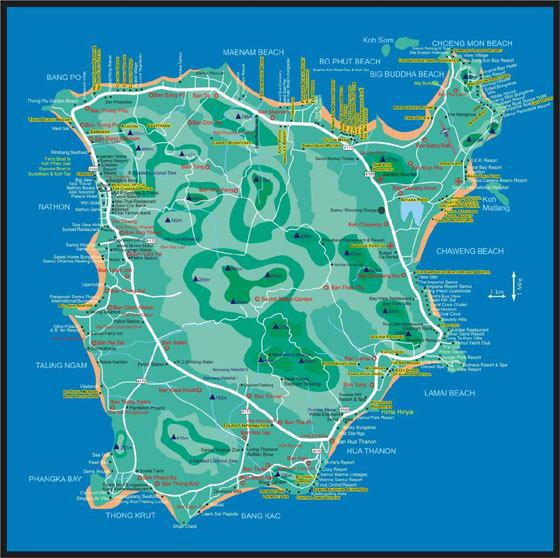 Ko Samui map 1