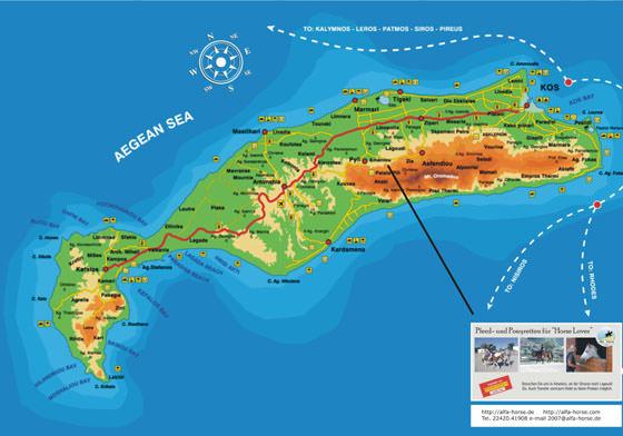 Детальная карта Коса 3
