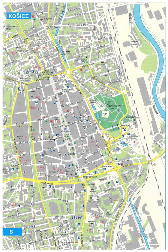 Large map of Kosice 1